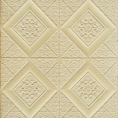 70*70cm Foam Panel Self-adhesive Wall Sticker 3D Tile Brick Wallpaper Home Decor