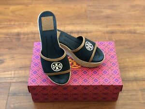 TORY-BURCH-Canvas-Espadrille-Wedge-Black-Size-5-5
