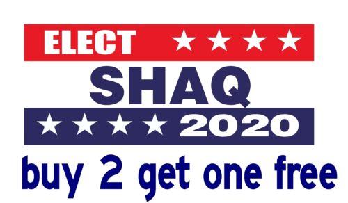 Shaq Sheriff 2020 Bumper Sticker Hillary for Prison Trump 2016 GoGoStickers