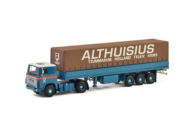 WSI 01-2187 Althuisius Scania 1 series +  Classic Curtainside Trailer  vente pas cher