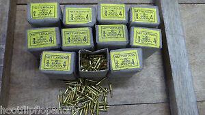 10-Cajas-1-9cm-x-4-Nettlefolds-Gkn-Laton-Encastrado-con-Ranuras-Madera-Tornillos