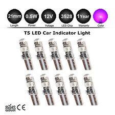 10 X T5 3528 3SMD LED for Car dash light dashboard Bulb Lamp DC 12V wedge Purple