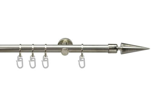 stainless steel finish with Rings 1-Barrel Way2way Curtain Rod Ø 16mm Arrow