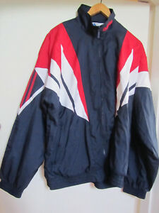 9a4aa4081 Adidas Mens Navy Red & White Thin Track Jacket in Size 42 - 44 | eBay
