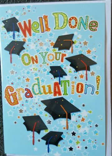 WELL DONE ON YOUR GRADUATION GRADUATION GREETING CARD