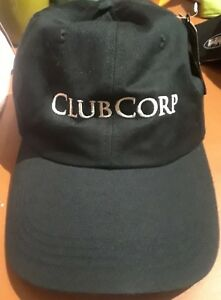 NEW ClubCorp Country Clubs Golf Hat Baseball Cap Solid Black Ahead ... b68ed3fae2b6