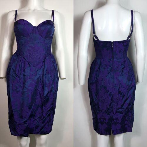 Rare Vtg Vivienne Westwood Purple Corset Dress S
