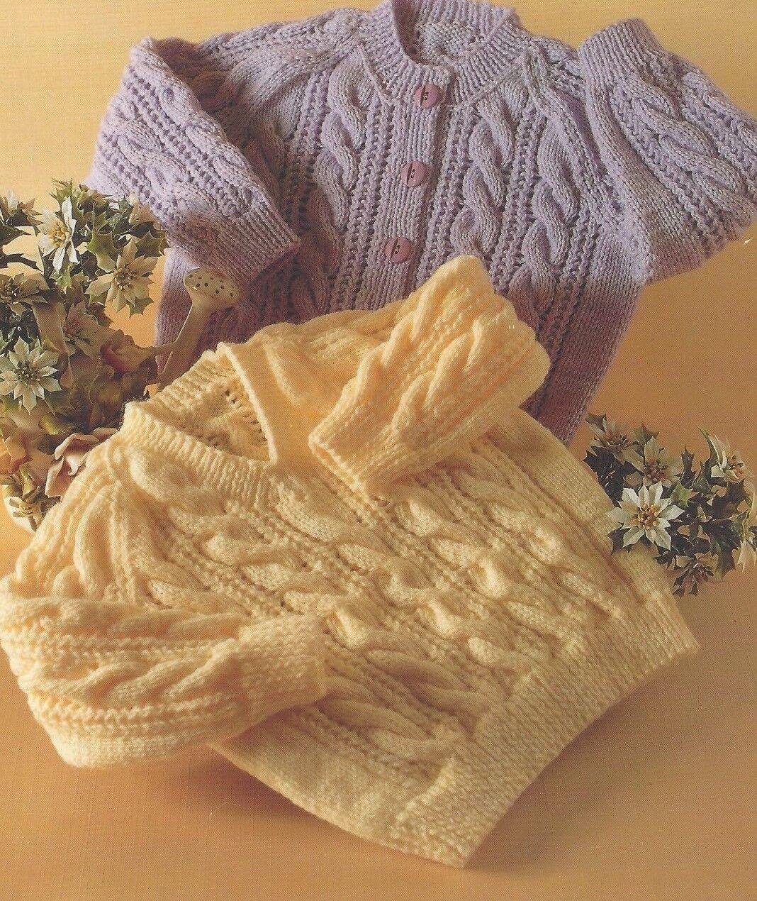 DK Baby knitting pattern instructions boys easy cardigan hat booties set dan