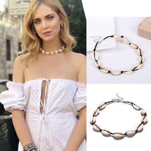 Bohemian-Sea-Shell-Conch-Pendant-Necklace-Collar-Choker-Beach-Charm-Jewelry