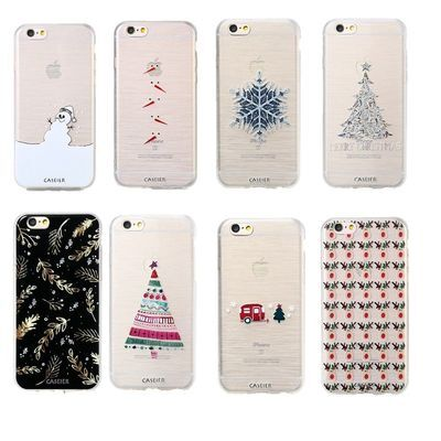New Christmas Rubber Slim Soft TPU Silicone Phone Case Cover For iPhone 8 7 X 6S