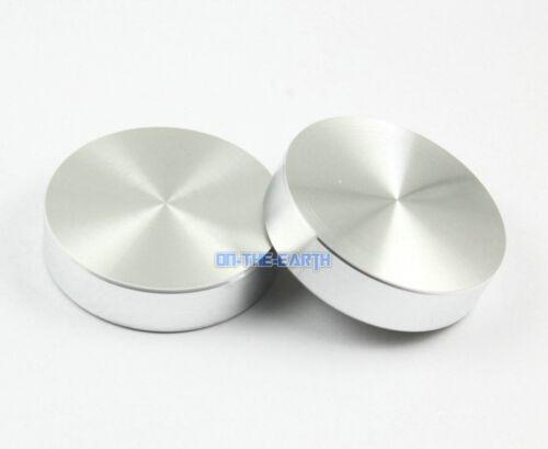 4 Pcs 40*10*M8 Aluminum Disc Glass Table Top Adapter Attach Circle Decoration