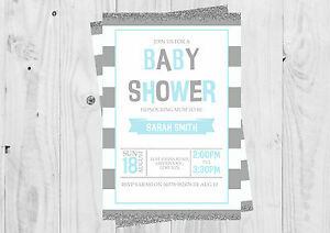 Personalised-Its-a-boy-baby-boy-Blue-Baby-shower-invitations-with-envelopes