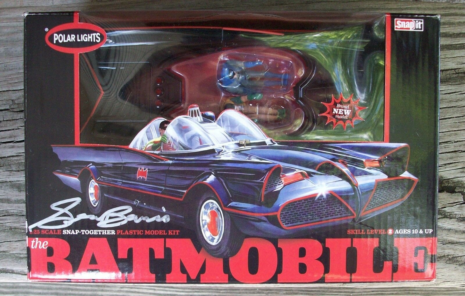 TV Batmobile Batman & Robin Figures Model Kit George Barris Signed Autographed