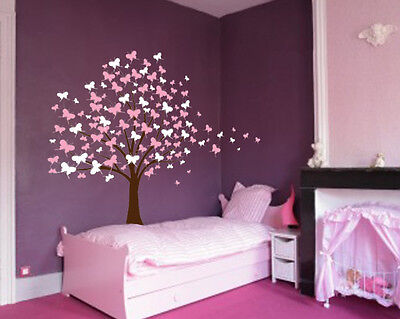 Large Wall Tree Baby Nursery Decal Butterfly Cherry Blossom Sticker Kids Flower