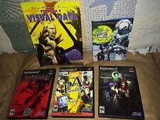 LOT of PS2 Shin Megami Tensei NOCTURNE, PERSONA 3, 4 & RARE Art of P3 & P4 Books
