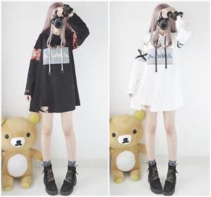 New-Japanese-Electrocardiogram-Kawaii-Lolita-Hooded-Sweater-Long-Sleeve-Dress