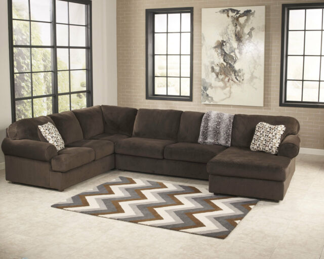 Superb New Aura Large Sectional Brown Microfiber Living Room Furniture Sofa Couch Set Ncnpc Chair Design For Home Ncnpcorg
