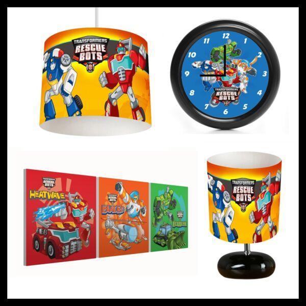 100% Vero Transformers Rescue Bots (472) - Boy Camera Da Letto-paralume, Lampada, Orologio & Foto Le Merci Di Ogni Descrizione Sono Disponibili