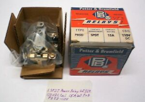 1 Power Relay,110VDC Coil, 15A Cont. Potter&Brumfield PR5D-110V,  Lot 324, USA
