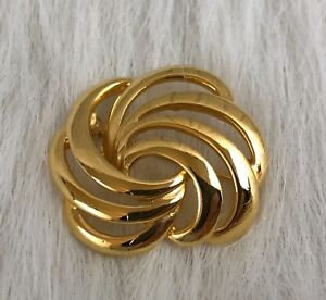 Details about NAPIER Signed Vintage Gold Tone Swirl Texture Brooch  Collectible Gift
