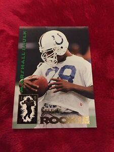 Details About 1994 Pinnacle Select Marshall Faulk Rookie Card Rc 200 Indianapolis Colts Hof