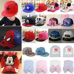e1c1f762862 Casual Baby Kids Girls Boys Lovely Hat Hip Hop Snapbacks Sports ...