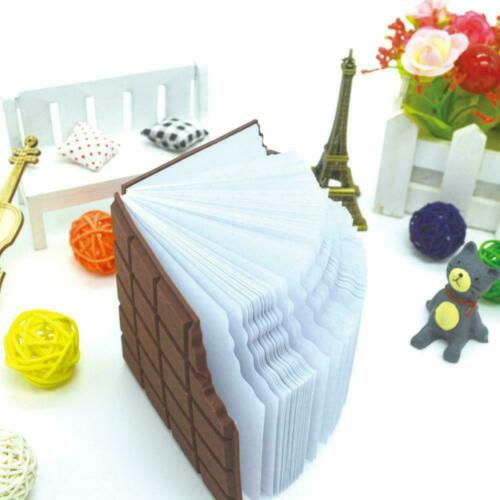 Chocolate Notebook Memo Pad DIY Cover Notepad Convenient Gifts School Stati K3A6