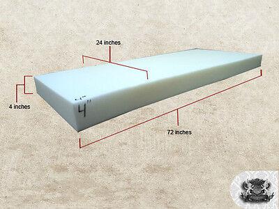 "4""x24""x72"" Foam Sheet Cushion Replacement Upholstery"