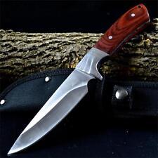 "9"" ELK RIDGE GENTLEMAN Fixed Blade HUNTING SURVIVAL KNIFE Wood Handle w/ SHEATH"