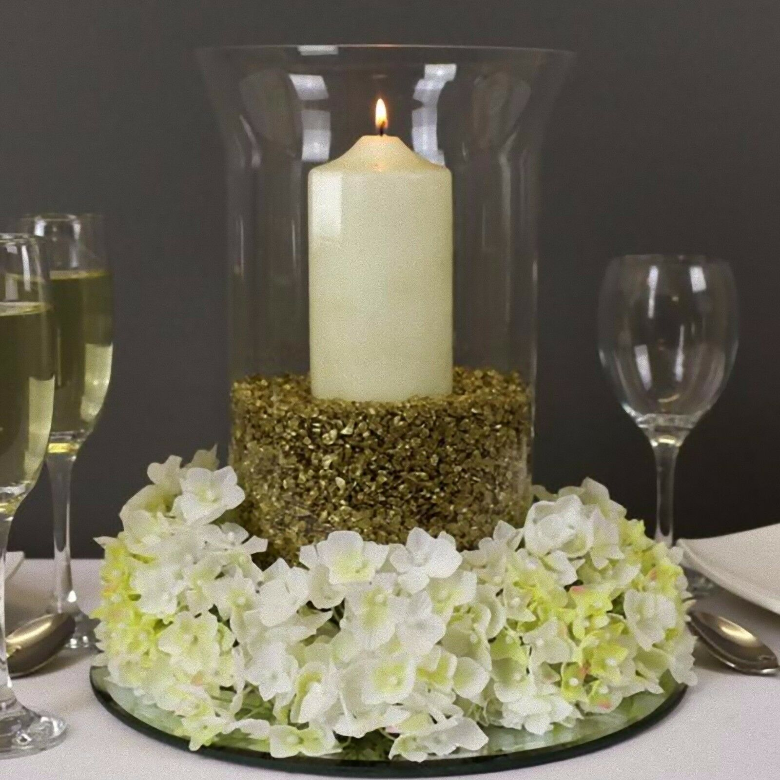 Wedding table Hurricane Vase Candles Floristry Quality Glass not flimsy 30cm