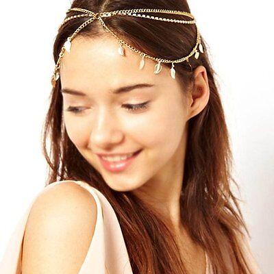 Women Fashion Metal Rhinestone Head Chain Jewelry Headband Head Piece Hair band