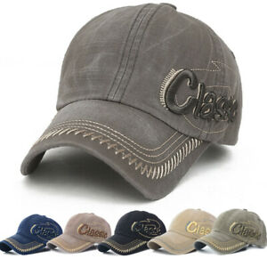 Herren-Damen-Classic-Basecap-Cap-Baseball-Muetze-Kappe-Verstellbar-Golf-Sport-Hut