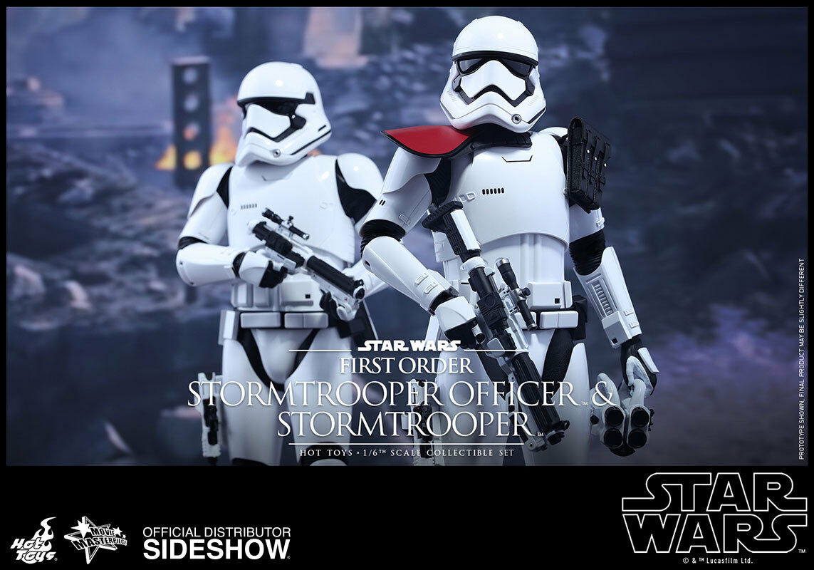 Star Wars 12 Inch MMS First Order Officer & Stormtrooper Set Hot Toys