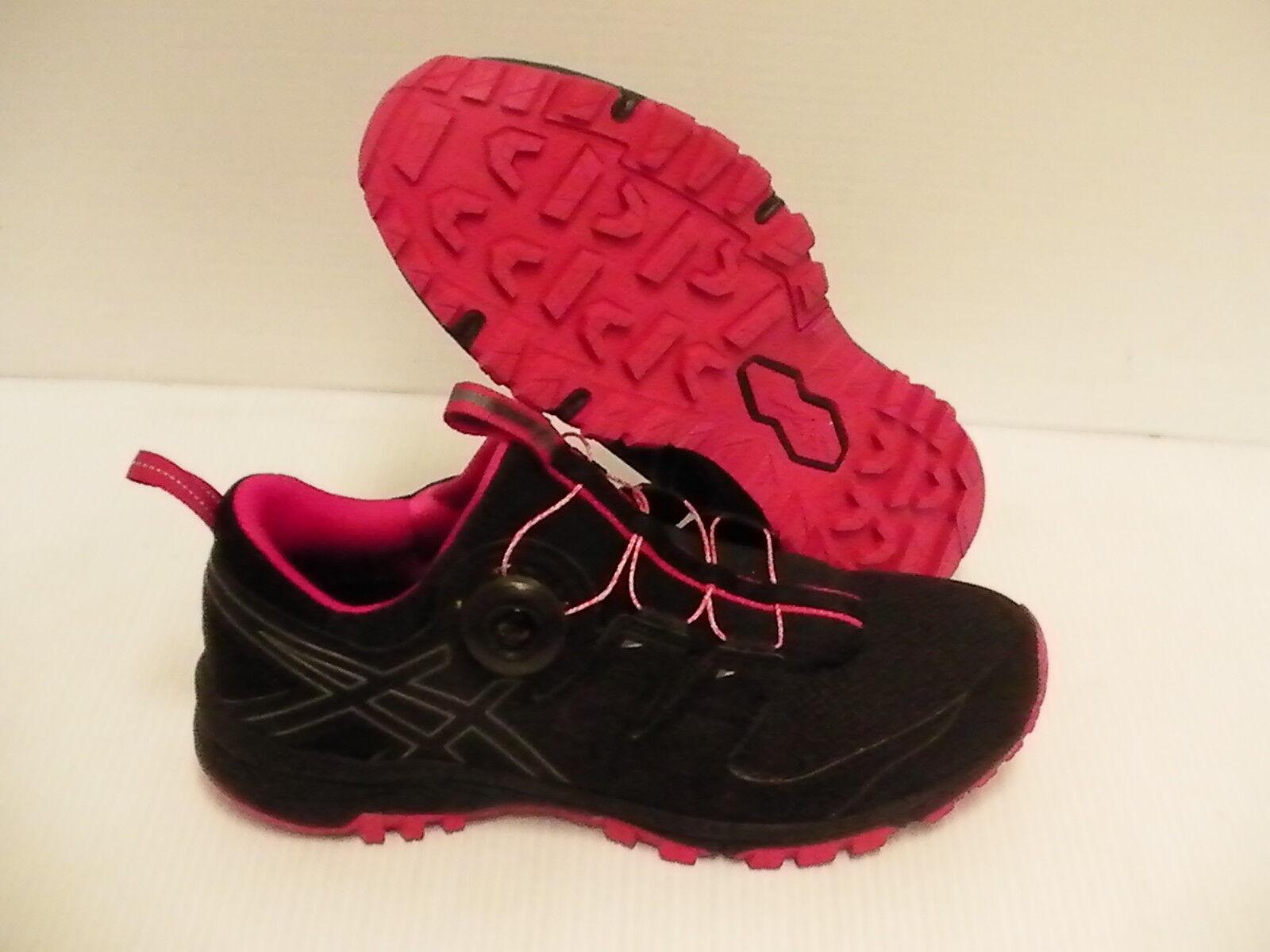 Asics gel Damens's gel Asics FujiRado running schuhe schwarz carbon cosmo pink Größe 8 us 011ced