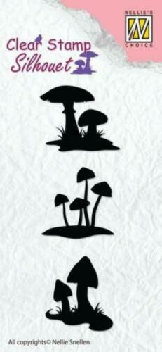 Clear Stamps aus Silikon Nellie/'s Choice Stempel Pflanzen Grün Silhouetten