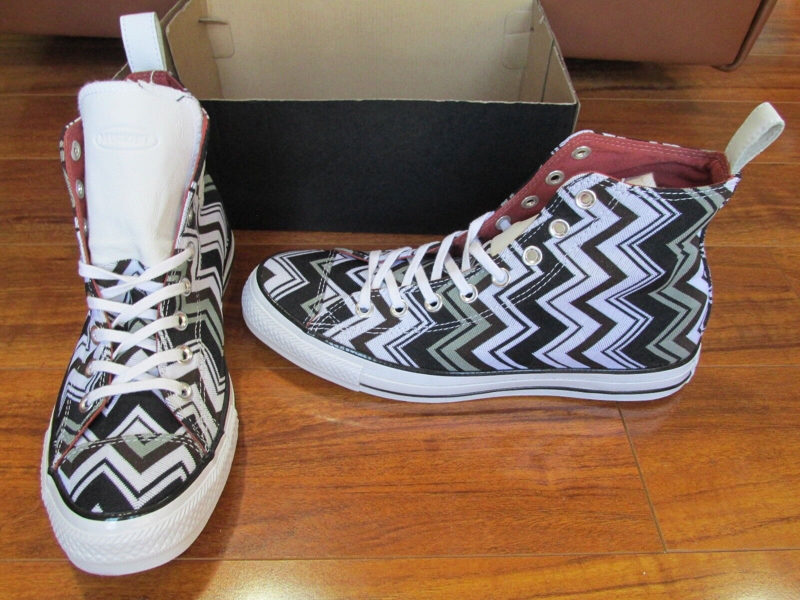 NEW CONVERSE CHUCK TAYLOR AS MISSONI HI  Chaussures  femmes  10 MULTI/EGRET  125.00