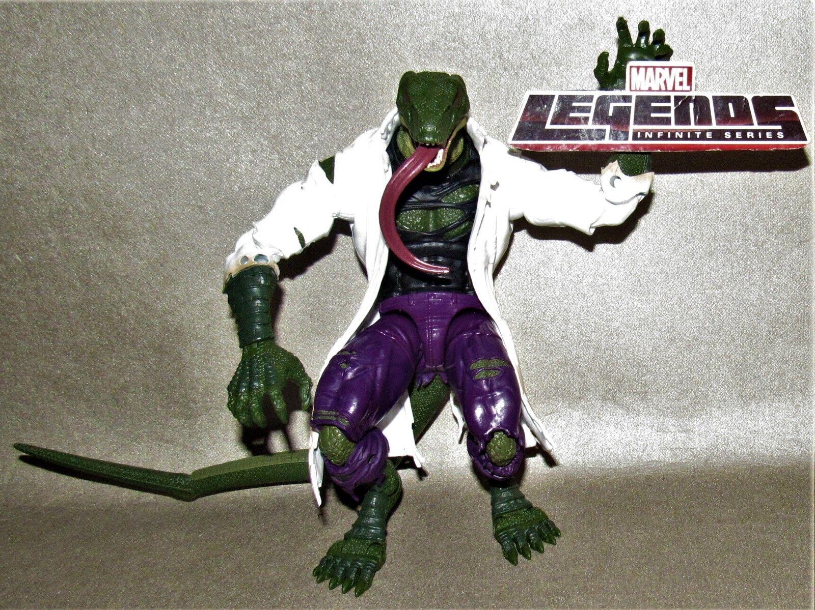 Marvel Legends Spider-Man BAF Build A Figure Dr Connors Lizard 100% Complete 8