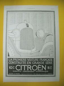 Publicite-de-Prensa-Citroen-10hp-Automovil-Ano-Gran-Serie-1934