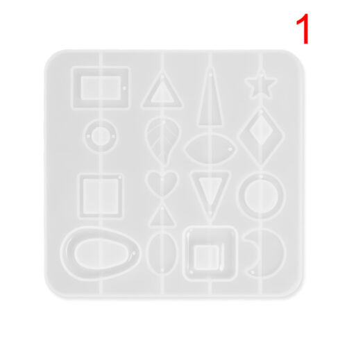 DIY Silicone Mold Crystal Jewelry Pendant Earrings Resin Mould Craft Making Tool