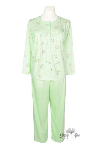 Schlafanzug Langarm angehem zu tragen Baumwolle New Look Damen Pyjama