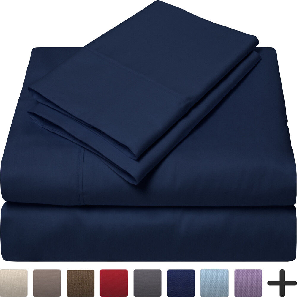 100% Egyptian Cotton Sheet Set - 300 Thread Count Premium Ultra-Soft Bed Sheets