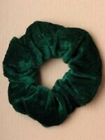 green VELVET HAIR SCRUNCHY SCRUNCHIE ELASTICATED HAIR BAND school 5719