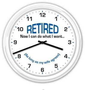 Image Is Loading Retired SILENT Wall Clock FUNNY RETIREMENT GREAT GIFT