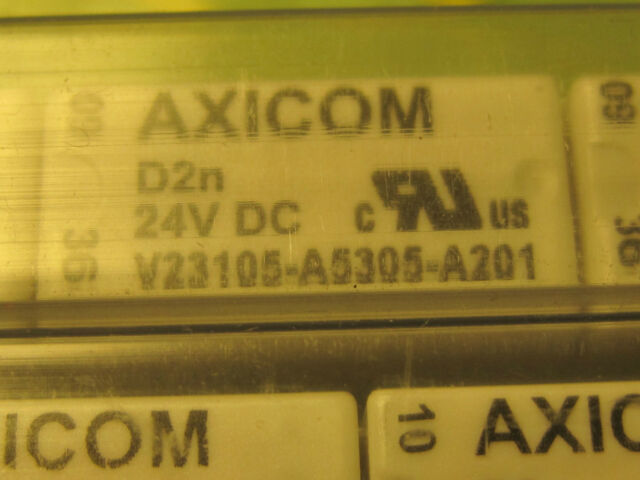 RELAY V23105-A5305-A201 3A 2RT D2n24VDC Low Signal Relays PCB 24V= AXICOM  1pcs