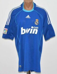 REAL MADRID 2008 2009 AWAY FOOTBALL SHIRT JERSEY ADIDAS SIZE XL ... 16dd1ca48