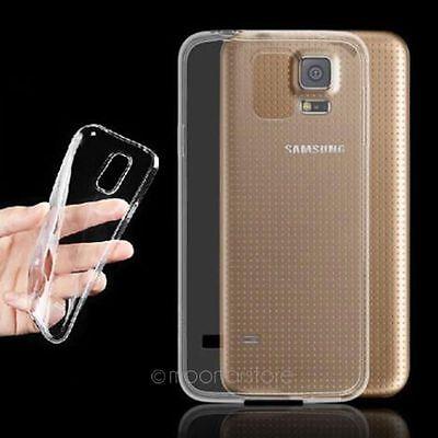 Transparent Silikon Schutz Hülle Tasche Case Cover For Samsung Galaxy S5 I9600