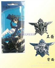 Black Butler Ciel Phantomhive Eagle Logo Badge Brooch Cosplay Accessory
