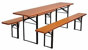 Image Is Loading Beer Garden Table And Bench Set Folding German