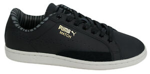Puma Match 74 Citi Mens Trainers Leather Lace up Black 360154 01 ... 68c769ae3