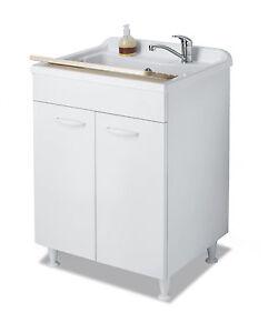 Lavatoio mobile per lavanderia pilozza con mobile ante stondate ...